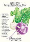 Kohlrabi Purple & White Vienna Blend HEIRLOOM Seeds