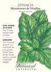 Spinach Monstrueux de Viroflay HEIRLOOM Seeds