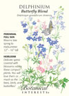 Delphinium Butterfly Blend HEIRLOOM Seeds