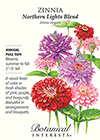 Zinnia Northern Lights Blend Seeds