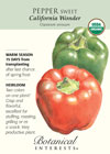 Pepper Sweet California Wonder Organic HEIRLOOM Seeds