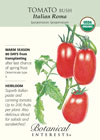 Tomato Bush Italian Roma Organic HEIRLOOM Seeds