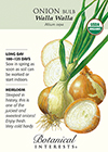 Onion Bulb Walla Walla Organic HEIRLOOM Seeds