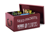Seed Packet Organizer, Burgundy
