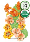 Nasturtium Fiesta Blend Organic HEIRLOOM Seeds (LG)